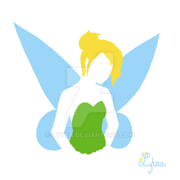 600x600 Tinkerbell Silhouette By Lytea