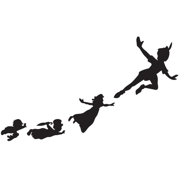 736x736 Off To Neverland Peter Pan Flying Stencil