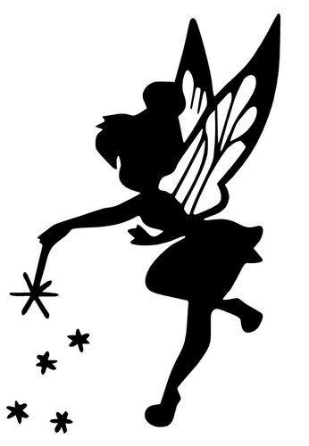 346x500 Fairy Fairy Decal, Tinkerbell Silhouette, Idea, Fairies