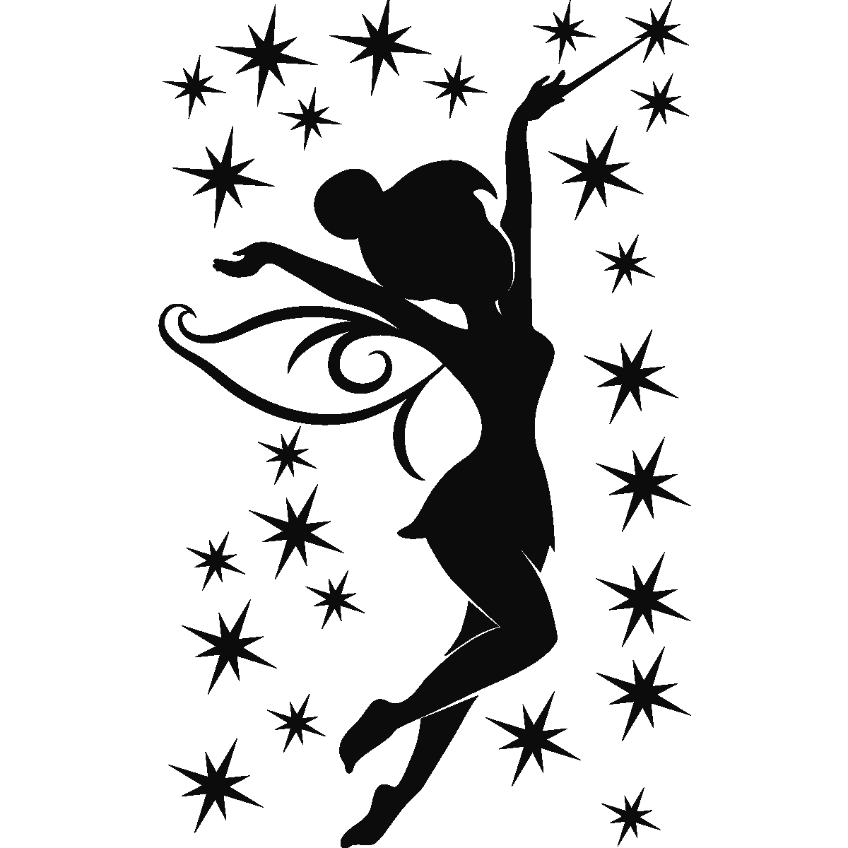 1200x1200 Silhouette Think Lt3 Tinkerbell Love Silhouettes