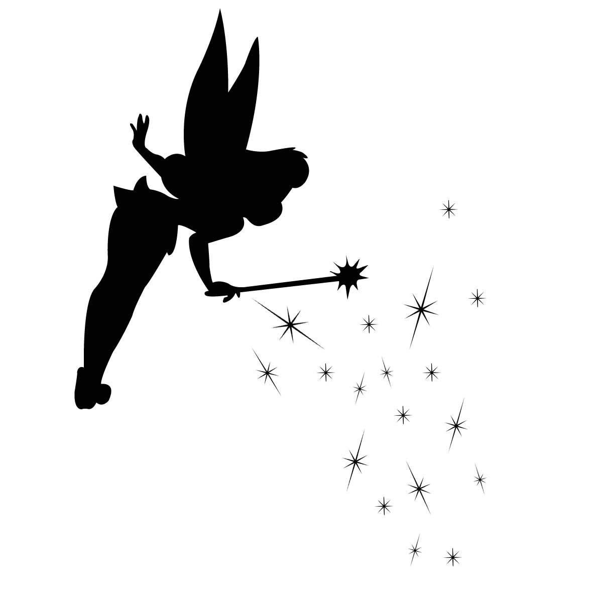 1181x1181 tinkerbell silhouette