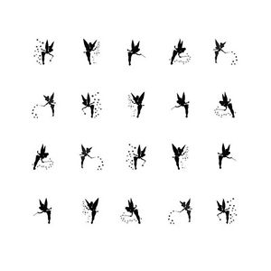 300x300 Images Of Tinkerbell Silhouette Allofpicts