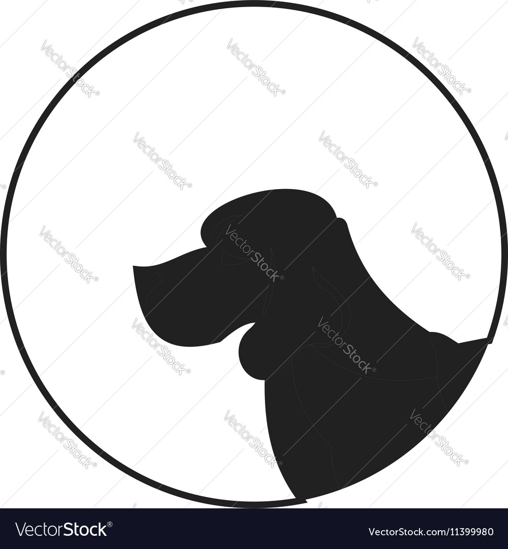 999x1080 Silhouette Of A Dog Head Dachshund Vector 11399924