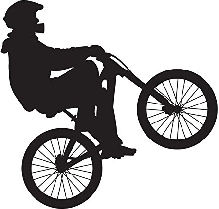 450x430 Bmx Silhouette I Wall Decal Cutout 23x24 Amazon.co.uk Kitchen