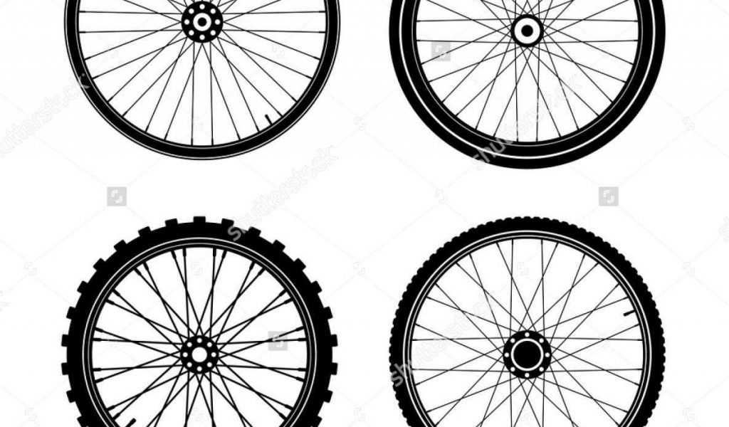 1024x600 With And Thread Mountain Bike Tire Silhouette Track Vector