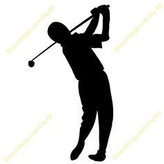 236x236 Golf Swing Silhouette Clipart