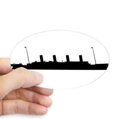 460x460 Titanic Oval Stickers