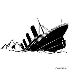 236x236 Vinyl Wall Decal Sticker Titanic Cruise Ship Home Decor Boys