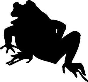 300x280 Frog Toad Decal 3.75x4 Choose Color! Vinyl Sticker F5 Ebay
