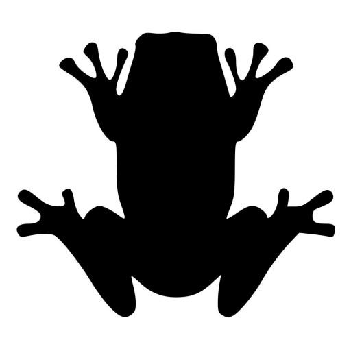 512x512 Frog Toad With Web Feet Die Cut Decal Car Window Wall Bumper Phone