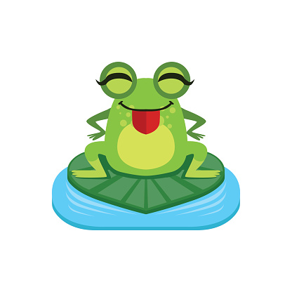 416x416 Silhouette Of A Funny Toad Clip Art, Vector Image Illustrations