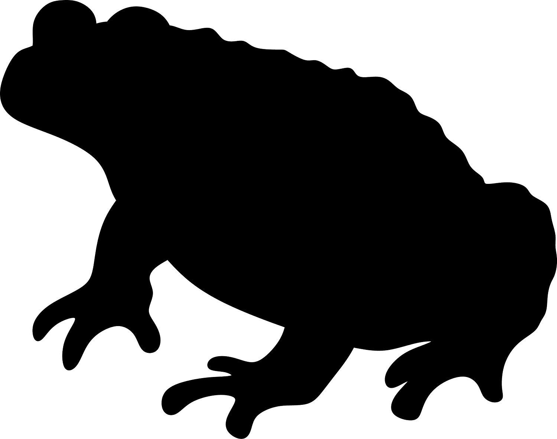 1500x1182 Toad Silhouette (Black) Waterproof Vinyl Decal