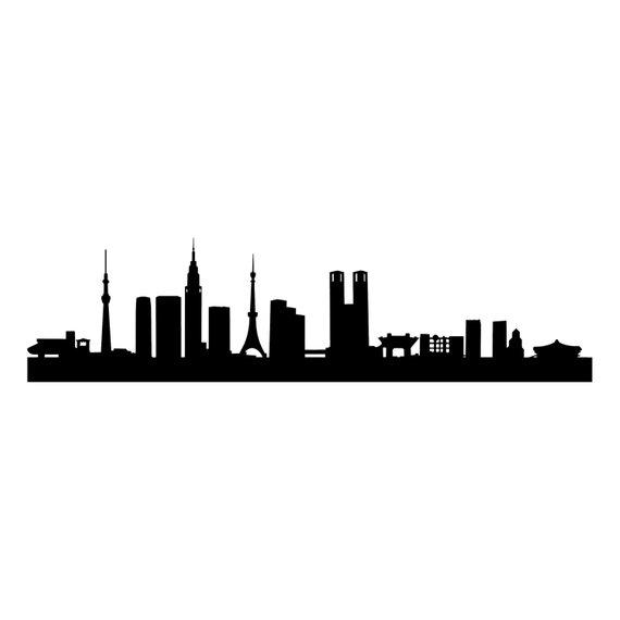 570x570 Tokyo Capital City Skyline Silhouette Landmarks Skyscrapers