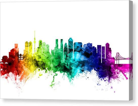 546x422 Tokyo Skyline Canvas Prints Fine Art America