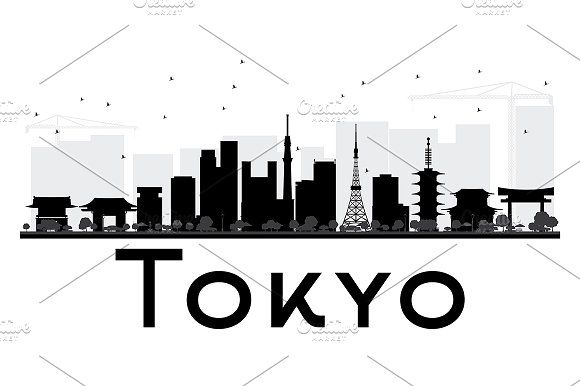 580x386 Skyline Silhouette Tokyo