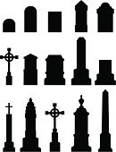 130x170 Grave With A Cross Stock Vectors