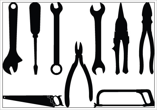 501x351 Tools Silhouette Vector Download Plier Spanner Screw Driver