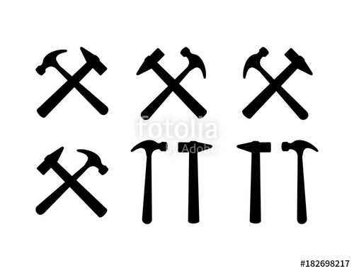 500x382 Various Hammer Mallet Construction And Tool Illustration Logo