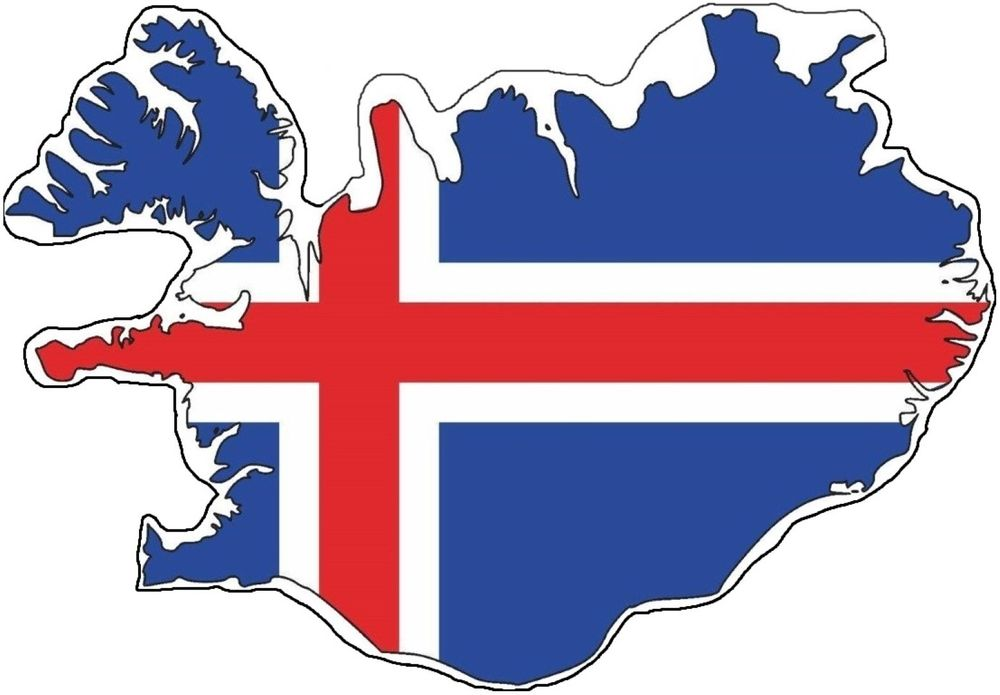1000x695 Iceland Silhouette Bumper Decal Map Flag Tool Box Sticker Laptop