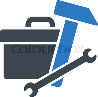 320x316 Toolbox Black Icon Silhouette As Close Box With Tools Isolated