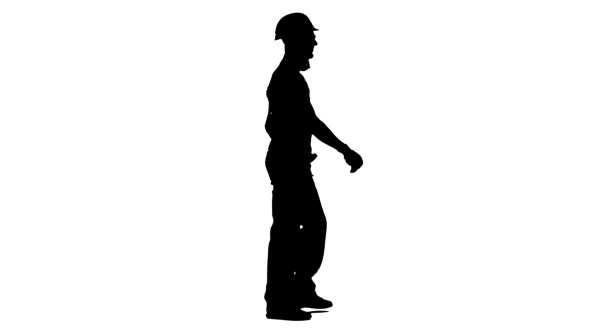 590x332 Silhouette Of Builder Goes To The Object With A Helmet And Tools
