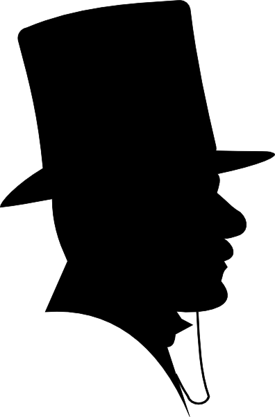 396x599 Victorian Man Silhouette Man Wearing A Top Hat Clip Art
