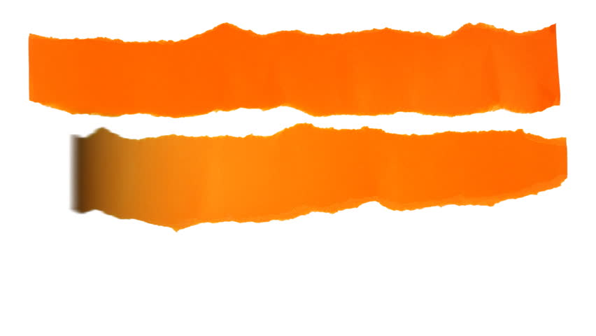 852x480 Torn Paper Strips Background. 3 Orange Strips Of Torn Paper Unroll