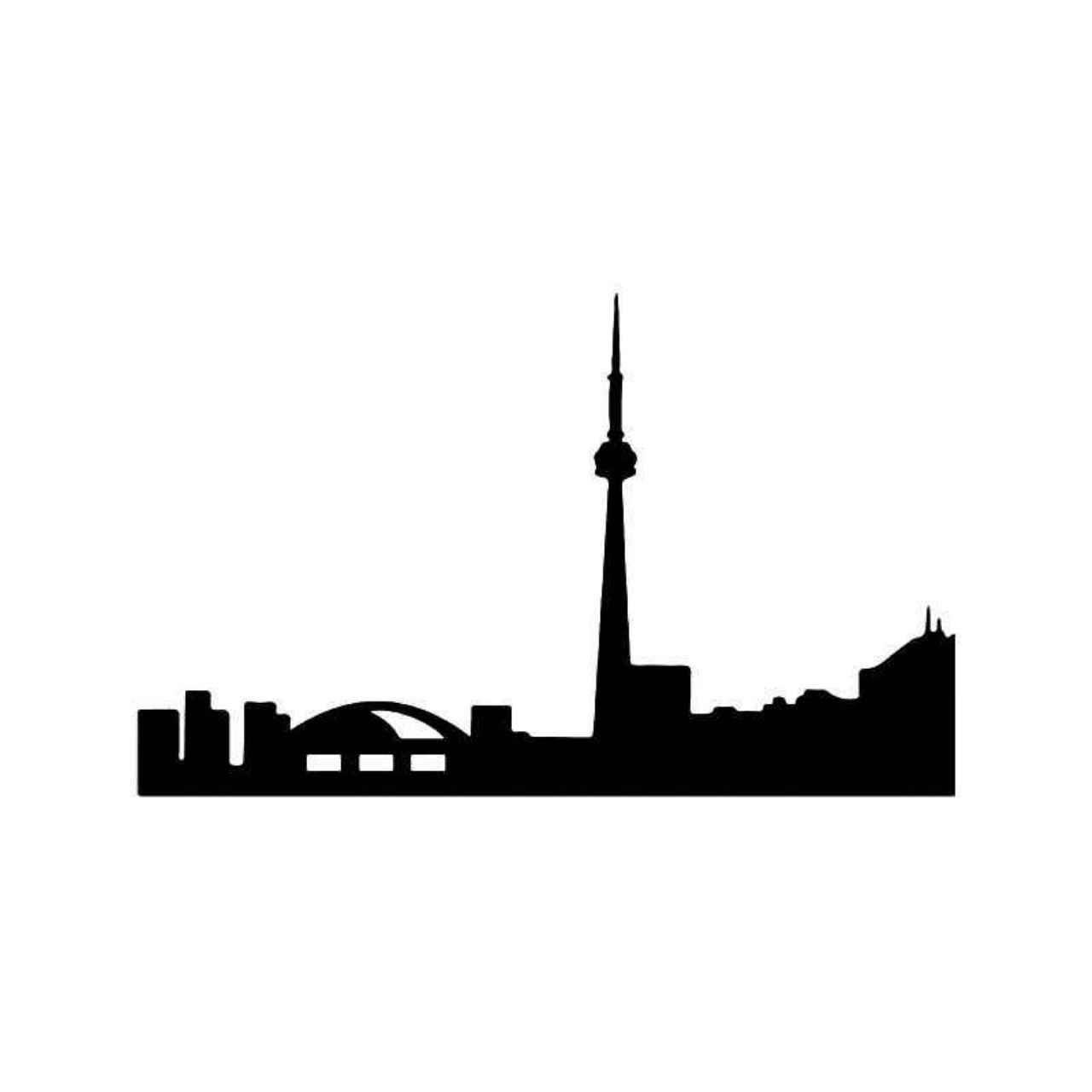 1280x1280 Toronto City Skyline Vinyl Decal Sticker Toronto City And City