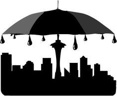 236x194 Seattle Clipart Seattle Skyline Silhouette Tattoo