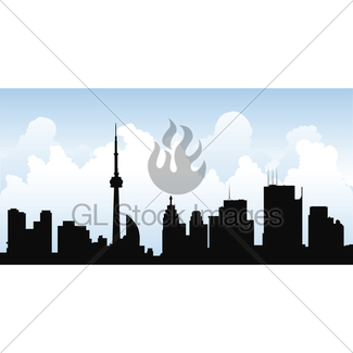 325x325 Stick Figure Toronto Skyline Gl Stock Images