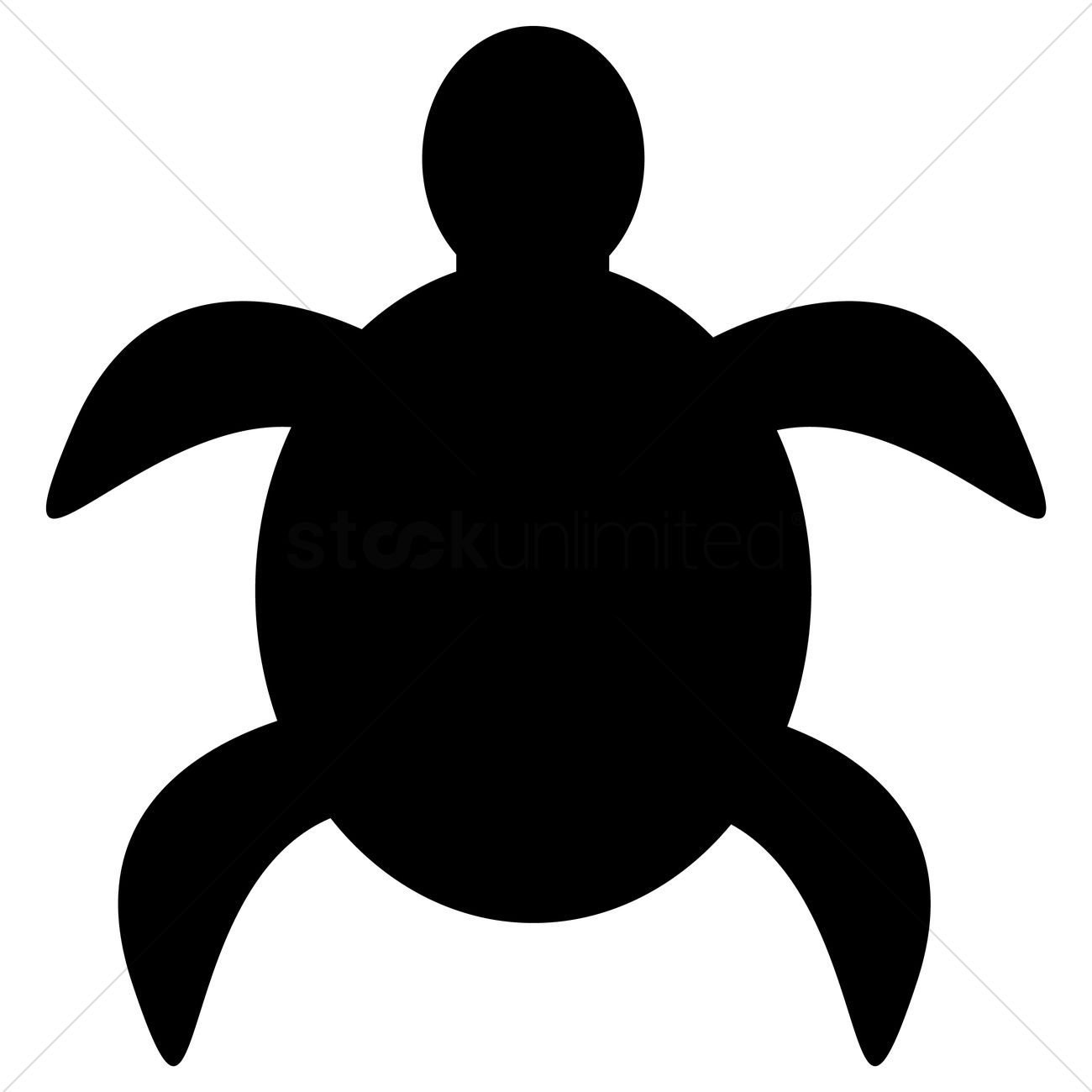 1300x1300 Silhouette Of Turtle Vector Image