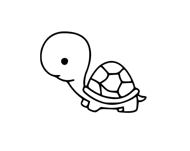 797x632 A Tortoise Has A Shell Silhouette For Your Laptop Phone Decal