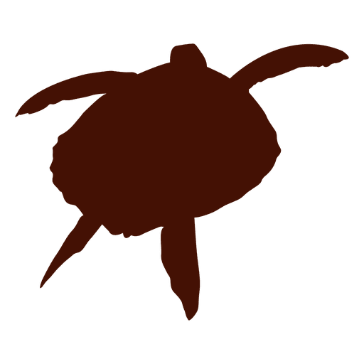 512x512 Turtle Tortoise Swimming Silhouette