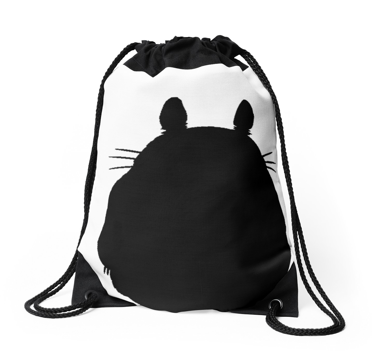 1435x1404 Totoro Silhouette Drawstring Bags By Laurasplace Redbubble