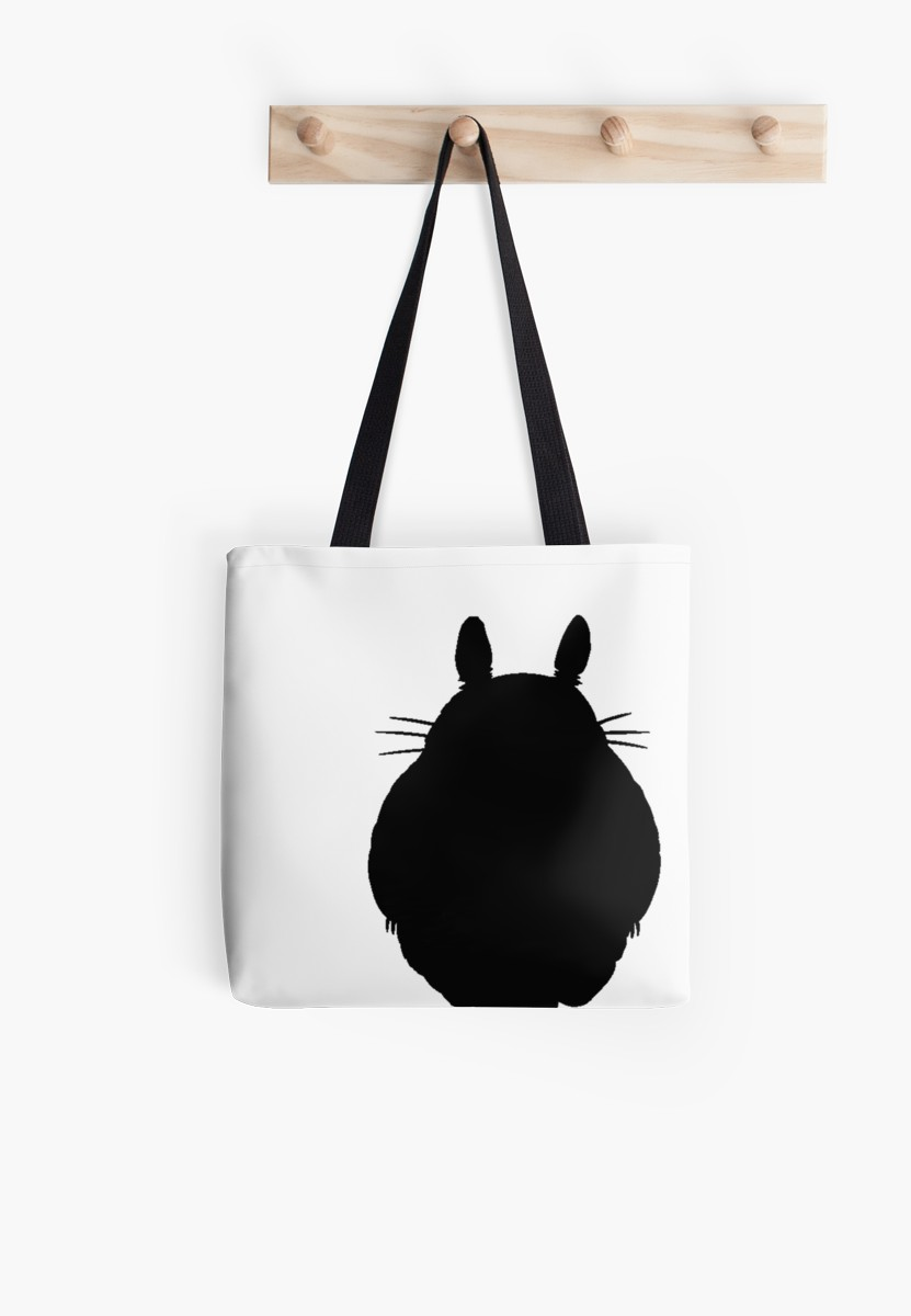 831x1200 Totoro Silhouette Tote Bags By Laurasplace Redbubble