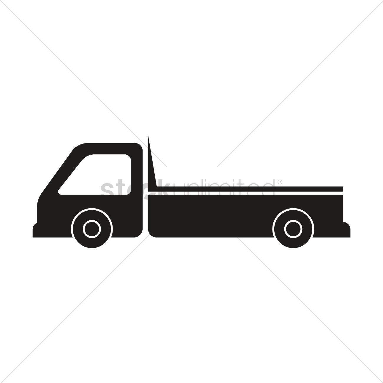 1300x1300 Silhouette Of Truck Vector Image