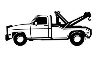 320x196 Tow Truck Decal Sticker