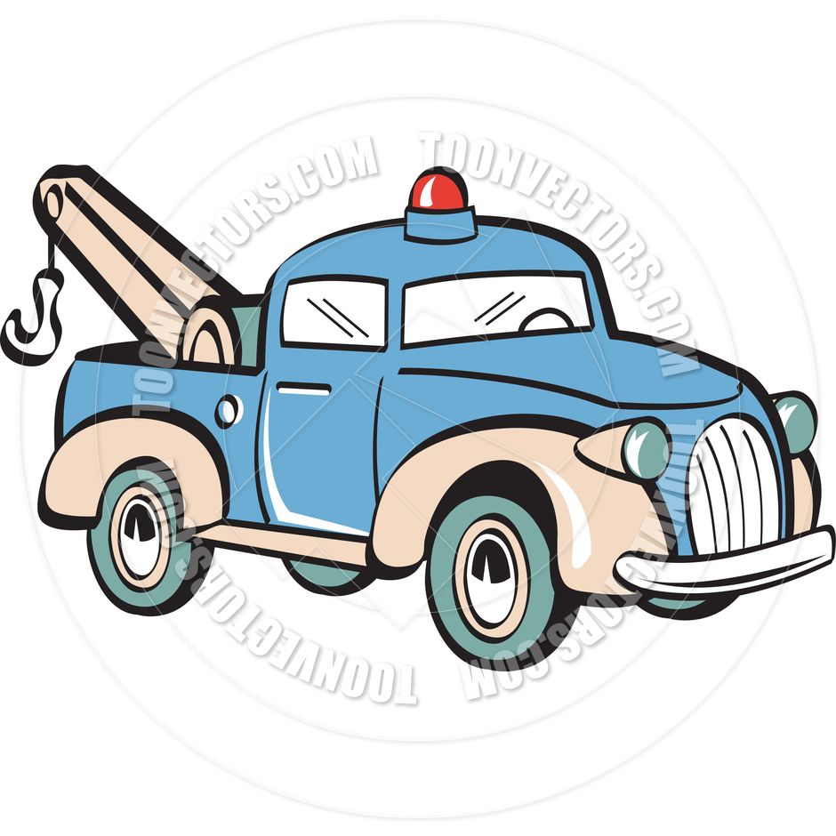 940x940 Energy Cartoon Tow Truck Pictures Clip Art Vector Illustration By
