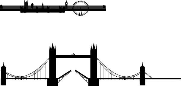 600x285 London Bridge Silhouette Clip Art