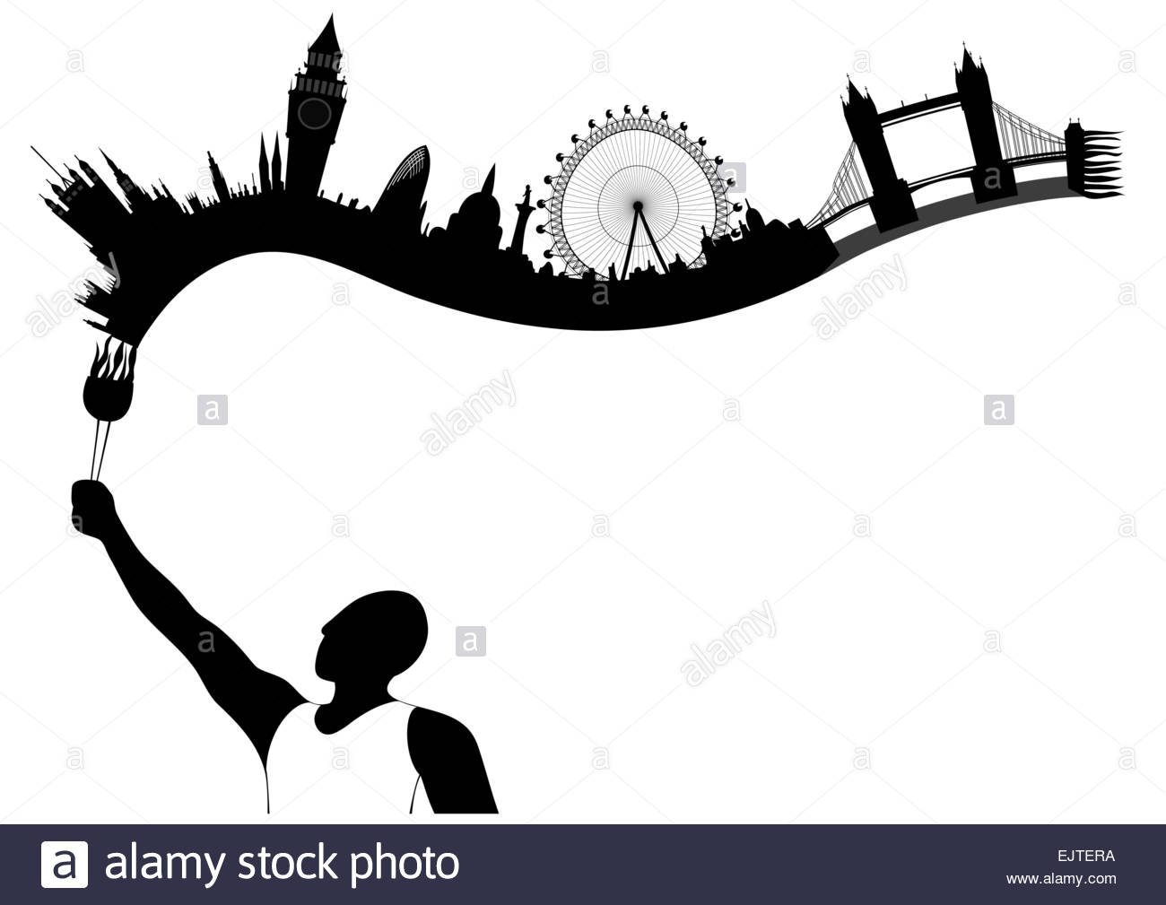 1300x1009 London Skyline Cut Out Stock Images Amp Pictures