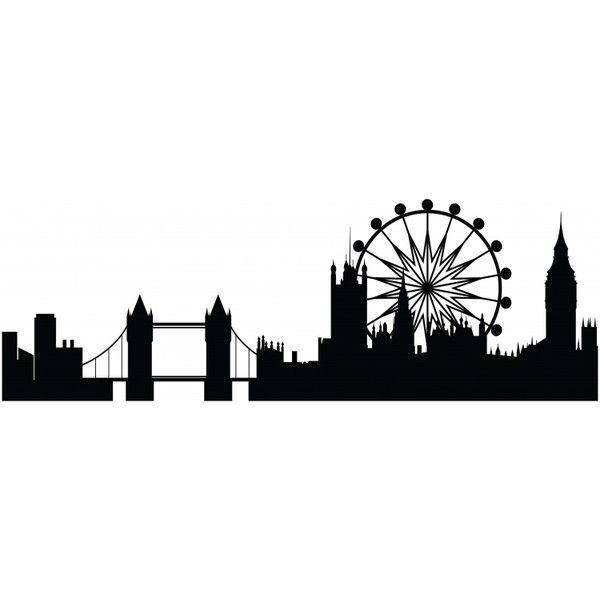 600x600 London Skyline Tower Bridge The Eye Wall Sticker Vinyl Decal