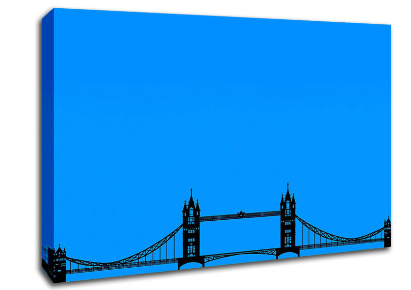 848x599 London Tower Bridge Silhouette Architecture Canvas Stretched Canvas