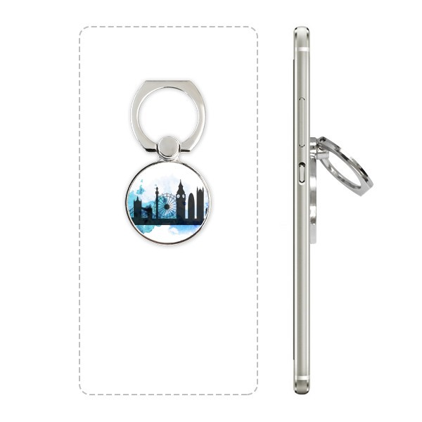 600x600 London Tower Bridge Silhouette England Cell Phone Ring Stand