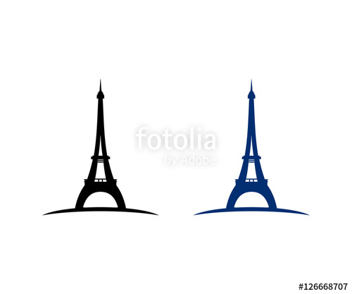 500x417 Silhouette Tower Eiffel Paris Prancis Icon Logo Design Stock