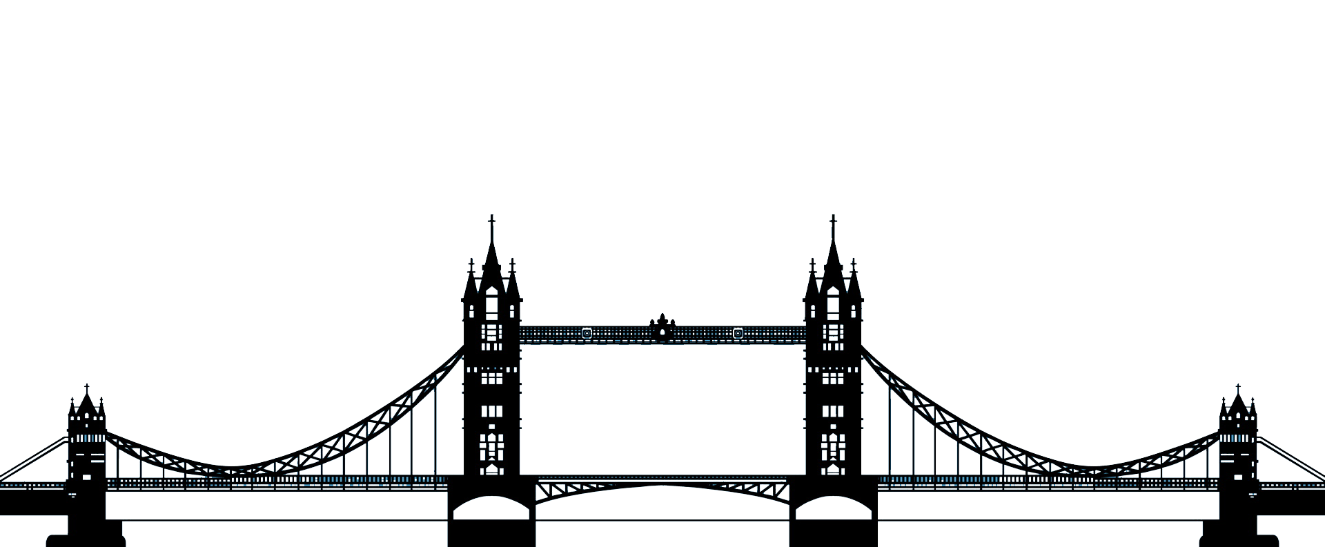 1920x793 Tower Bridge Wall Decal Shelf Wallpaper