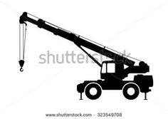 236x167 Crane Silhouette On A White Background Vector