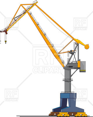 320x400 Harbour (Wharf) Crane Royalty Free Vector Clip Art Image
