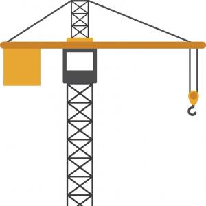 300x300 Photostock Vector Tower Crane Icon In White Background