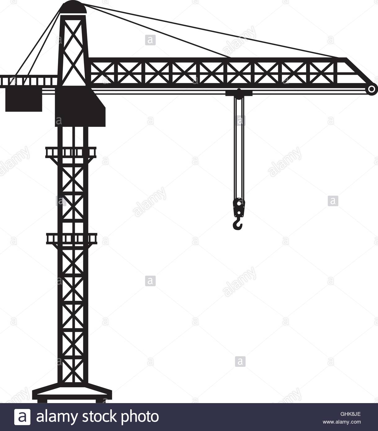1219x1390 Crane Tower Machinary Hook Hang Icon Vector Graphic Stock Vector
