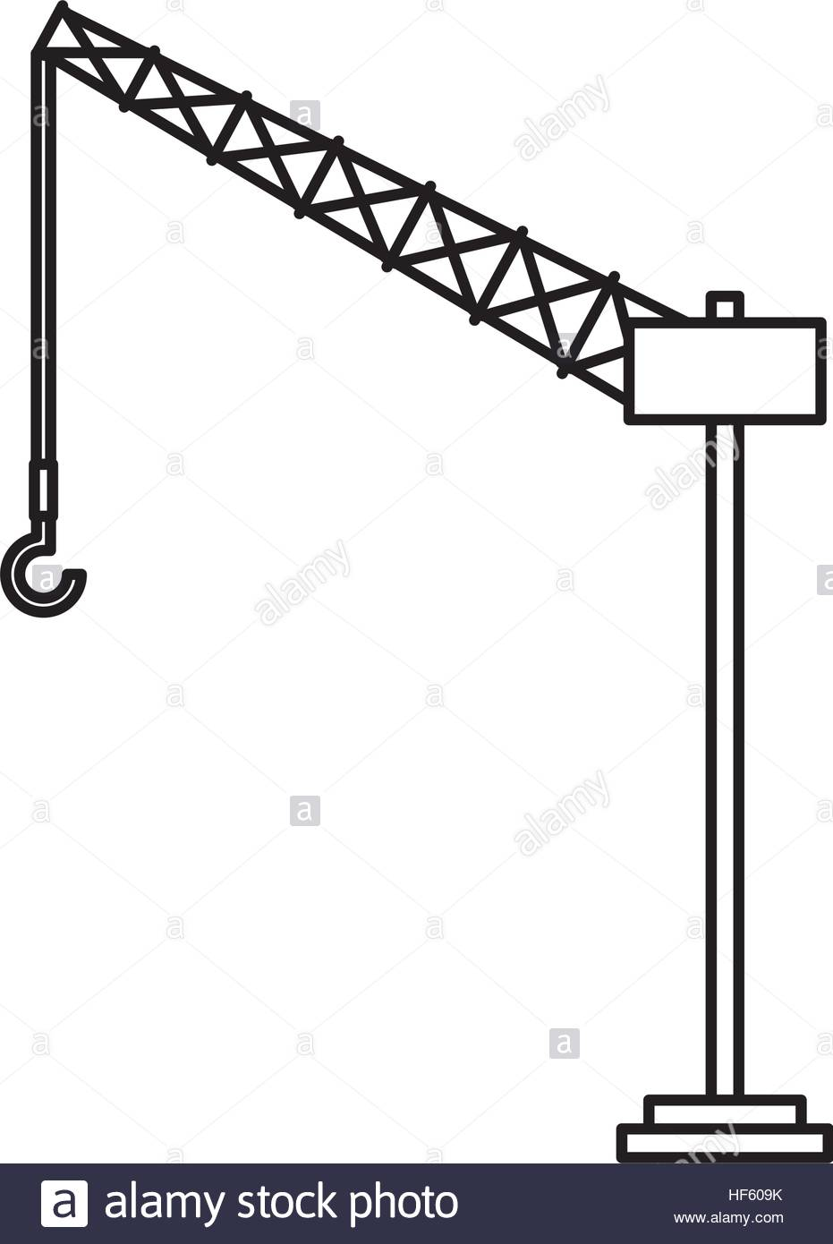 931x1390 Tower Crane Service Icon Vector Illustration Design Stock Vector